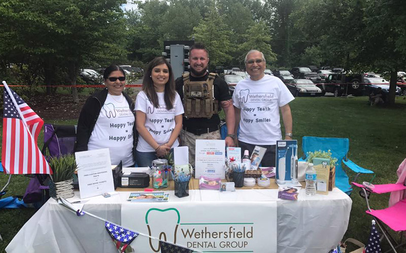 Wethersfield Dental Group team at community event
