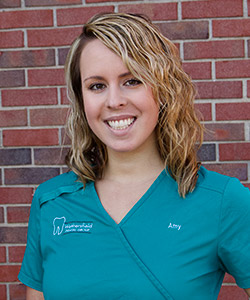 Dental assistant Amy