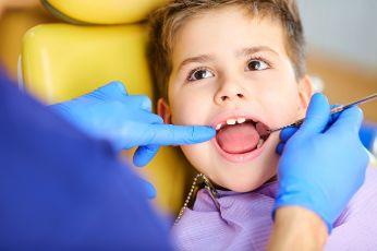 Little Boy Getting a Dental Exam